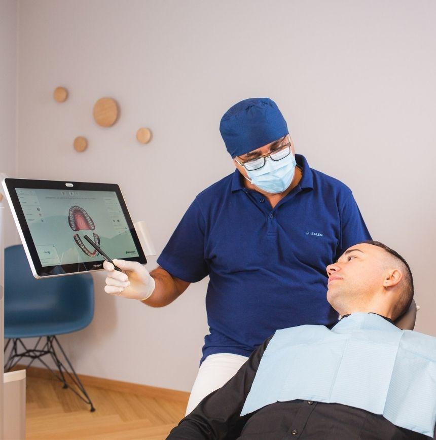 Image d'une consultation pour implant dentaire à morges