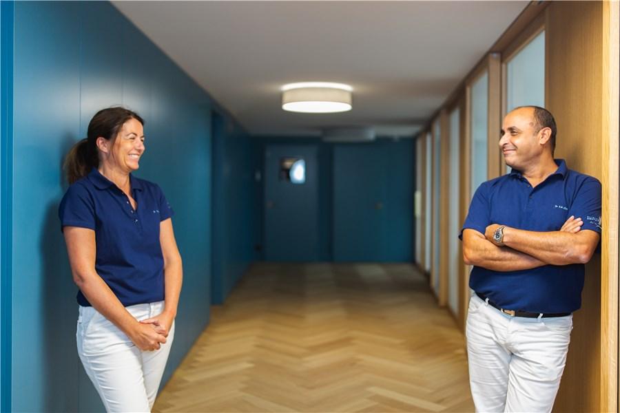 Photo dr SALEM et dr PUJOL clinique dentaire du lac